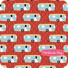 Roughing It Red Allover RVs Yardage SKU# 13240-256 - Fat Quarter Shop  #caravans