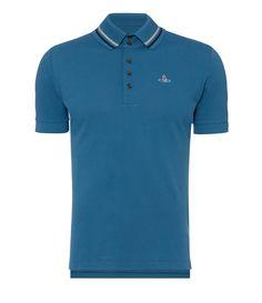 6104f5e3 Krall Piquet Polo Shirt Blue #SS17 Vivienne Westwood Polo, Skinny Sweats,  Black Skinnies