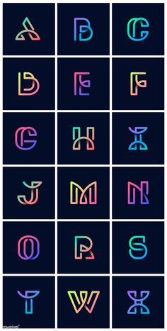 Colorful retro alphabets vector set free image by wan Creative Lettering, Lettering Styles, Lettering Design, S Logo Design, Creative Logo, Design Alphabet, Hand Lettering Alphabet, Fancy Fonts Alphabet, Graffiti Alphabet