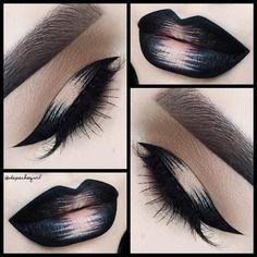 Vinyl Record  Lips - @katvondbeauty Witches Everlasting Liquid Lipstick. Graphic Liner - Trooper Tattoo Liner by @katvondbeauty. Brows - Tattoo Brow Liners by @katvondbeauty. Tamanna Mink Lashes by @flutterlashesinc #VinylRecord by depechegurl