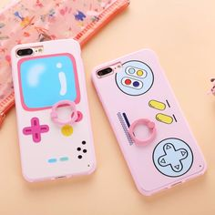 Cute Classical Cartoon Boy Game Machine Print Case For iPhone 7 7Plus Stand Ring Capa Phone Cases Cover For iPhone 6 6S 6Plus