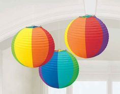 "9.5"" Rainbow Paper Lanterns 
