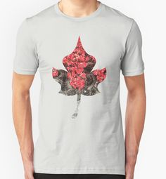 Red ivy leaves autumn stone wall Unisex T-Shirt by #PLdesign #autumn #fall #leaves