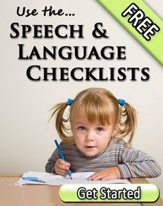 speech and language checklists