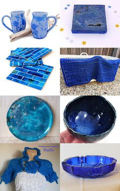 Some Beautiful Blues by Dianna on Etsy--Pinned with TreasuryPin.com