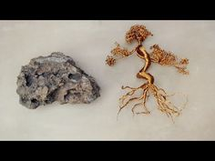 Wire Tree on Rock: Gauge Copper WireRockSuper GlueRound Stick (thin paint brush)Wire CutterWire Plier Bonsai Wire, Wire Tree Sculpture, Wire Sculptures, Wire Trees, Tree Wall Decor, Metal Tree Wall Art, Trendy Tree, Wire Weaving, Wire Crafts