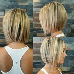25 cute bob hairstyles for fine hair 2019 best short & long hairstyle 00058 ~ Li . 25 cute bob hairstyles for fine hair 2019 best short & long hairstyle 00058 ~ Litledress, Popular Short Hairstyles, Short Hairstyles For Thick Hair, Short Bob Haircuts, Layered Hairstyles, Hairstyle Short, Trendy Hairstyles, Fashion Hairstyles, Hairstyles Haircuts, Bob Haircut For Fine Hair