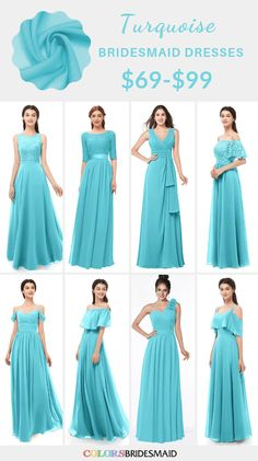 Turquoise bridesmaid dresses on sale $69-99, in 600+ custom-made styles and all sizes. 150+colors, made to order, fast arrived, color sample available. #colsbm #bridesmaids #bridesmaiddresses #turquoisewedding #weddingideas #turquoisedress b1210 Dark Teal Bridesmaid Dresses, Bridesmaid Tops, Turquoise Bridesmaid Dresses, Turquoise Dress, Turquoise Color, Simple Dresses, Beautiful Dresses, Winter Formal Dresses, Groom Attire