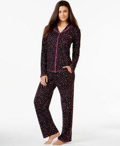 DKNY Long-Sleeve Pajama Set