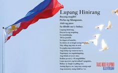 Philippines - Lupang Hinirang ;  Photo by Anthony Villalon | Dreamstime.com School Bulletin Boards, Philippines, High School, Outdoor Decor, Movie Posters, Grammar School, Film Poster, High Schools, Secondary School
