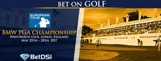 The BMW PGA Championship is one of the premier events each season on the European Golf Tour. The 2017 event takes place from May through May at The Wentworth Club in Surrey, England. Golf Events, Golf Betting, Golf Tour, 2017 Bmw, European Tour, Surrey, England, Tours
