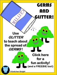 GLITTER AND GERMS! ~A fun activity to teach how germs are spread~ This is a fun activity that I have done with my kiddos for many,. Preschool Science, Preschool Lessons, Science Lessons, Preschool Kindergarten, Preschool Education, Preschool Ideas, Preschool Crafts, Elementary Science, Science Ideas