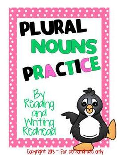 Plural Nouns practice includes 29 pages of fun practice for your students with those tough plural nouns!  For more like this check out my Pin Board https://www.pinterest.com/rwredhead/reading-and-writing-redheads-teachers-pay-teachers & sign up for my monthly newsletter for a freebie: eepurl.com/DFyuj