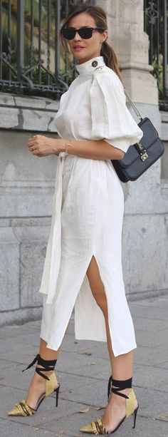 #summer #trending #outfits |  White Kimono Summer Dress