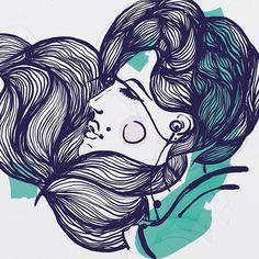 эта дамочка была и цветной, и чб, и под реализм и меня так достала, что ну её, буду и впредь зверят и траву рисовать #doodle #illustrations #art #drawing #artwork #sketch #digitalart #digital #girl #portrait #belinsta #nightdrawing #inspiration #deerroe  а ещё у неё пакмен на щеке