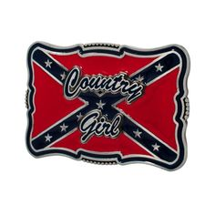 Southern Girl Rebel Flag | ... Metal Belt Buckle Country Girl Cursive Confederate Flag Southern Rebel