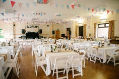 village hall reception setting