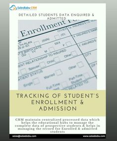 DETAILED STUDENT DATA INQUIRED & ADMITTED Sales Crm, Student Enrollment, Student Data, Business Management, Software, How To Plan, Senior Management