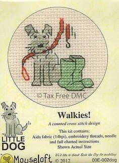 Livre-de-IVA-mouseloft-Pequeno-Cachorro-Cachorrinho-walkies-contados-cross-stitch-Kit-Novo
