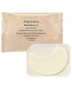 "Shiseido Benefiance Pure Retinol Instant Treatment Eye Mask- prevent the luggage or...try (I'm not sure if this works well...I only tried it once so maybe I'll opt for the packet that has a ""generous"" 3 pads...I'm being sarcastic b/c they don't give much for the $)"