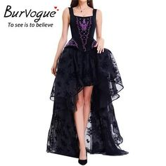 41d3d637e4 Burvogue Fashion Women Sexy Gothic Lace Steampunk Corset Dress Slimming Corsets  Bustier Top Overbust Steel Boned