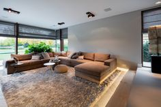 Villa on the outskirts – High ■ Exclusive inspiration for the living room and garden. Living Room Modern, Living Room Sofa, Living Room Interior, Home Living Room, Living Room Decor, Lounge Decor, Villa Interior, Interior Design, Townhouse Designs