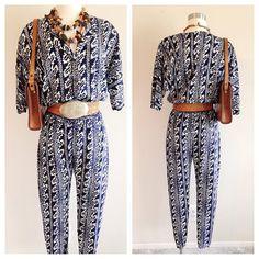 SALE! Vintage 1990s Boho Blue Jumpsuit Vintage Jumpsuit, Blue Jumpsuits, 1990s, Elastic Waist, Boho, Unique, Etsy, Dresses, Products