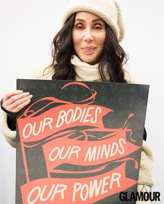 "Whats a rallying cry that all women can unite around in 2017 regardless of political party? ""Stand and be counted or sit and do nothing."" @cher backstage at the @womensmarch (: @girlgazeproject)  via GLAMOUR MAGAZINE OFFICIAL INSTAGRAM - Celebrity  Fashion  Haute Couture  Advertising  Culture  Beauty  Editorial Photography  Magazine Covers  Supermodels  Runway Models"