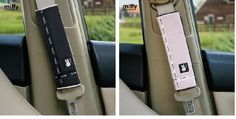 NEW Miffy Car Seat Belt Seatbelt Cover 2pcs 2 Colours ( Black / Pink )