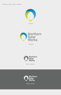 northern solar works logo identity subtle presentation chart