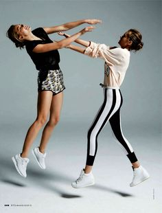 Hanna Verhees and Solveig Mørk Hansen shot by Mark Pillai for the May edition ofElle Italia, styled by Carola Bianchi.