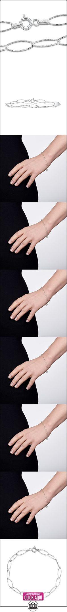 Amberta® Joyería - Pulsera - Fina Plata De Ley 925 - Cadena de Eslabones - 6.3 mm - 18 19 20 cm (19cm)  ✿ Joyas para mujer - Las mejores ofertas ✿ ▬► Ver oferta: https://comprar.io/goto/B01IBQXCZ4