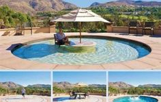 Very cool...literally. The patio becomes the pool. Adjustable depth, table in the middle...great concept.