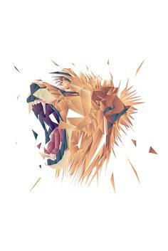 The series of illustrations depicting animals and their traits. Logo Animal, Lion Illustration, Polygon Art, Lion Logo, Lion Art, Animal Wallpaper, Lion Wallpaper, Geometric Art, Lions