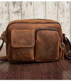 Vintage Cool Leather Mens Messenger Bags Shoulder Bag CrossBody Bags For Men a5b2536e22ae8