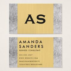 #hairstylist #businesscards - #Two Tone Metallic Gold Rock Business Card