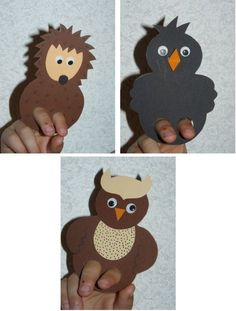 Here are all the explanations for making finger puppets . Animal Facts For Kids, Fun Facts About Animals, H&m Kids, Diy For Kids, Crafts For Kids, Autumn Animals, Felt Puppets, Fall Art Projects, Marionette