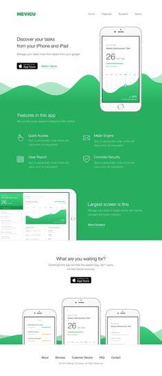 Web, landing, page, presentation, green, dark, colors, clean: