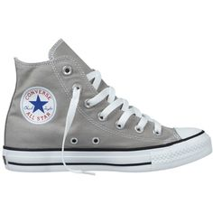 Converse Chuck Taylor All Star Hi-Top Trainers, Elephant Grey (£29) ❤ liked on Polyvore featuring mens, men's shoes, men's sneakers, shoes, sneakers, converse, zapatos and sapatos