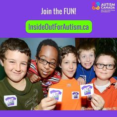 You can bring the #InsideOut4Autism fun to your school or workplace until April 30th. Share posters collect donations and wear your shirt inside out to support #autism awareness & acceptance. Register online: http://ift.tt/2m96Wdj