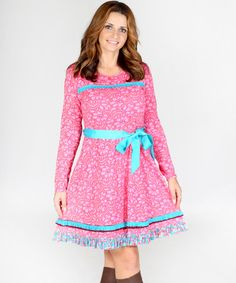 Look at this #zulilyfind! Pink Lace Francesca Dress - Women by Jelly the Pug #zulilyfinds
