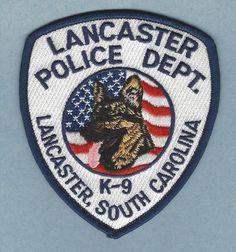 lancaster sc k9 police patch