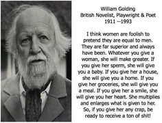 william golding women | http://freethoughtblogs.com/iris/files/2016/07/williamgoldingquote....
