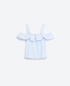 FRILLED TOP-View All-TOPS-WOMAN | ZARA United States