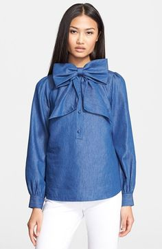 kate spade new york chambray blouse #Nordstrom