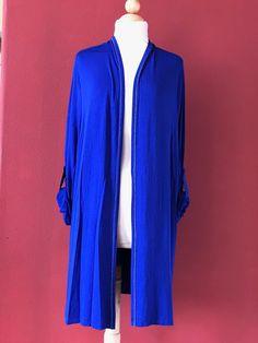 SOFT SURROUNDINGS Admiral Blue Biscayne Knit Cardigan Sweater Size 3X PLUS #SoftSurroundings #Cardigan