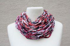 Schals - Loop Schlauchschal rot pink schwarz Schal Tuch  - ein Designerstück von trixies-zauberhafte-Welten bei DaWanda