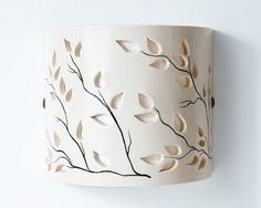 FREE SHIPPING Ceramic wall-lamp Hand Painted by CeramicART4U