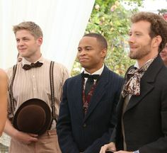 Bones-they all had to find costumes from the Jeffersonian to wear lol