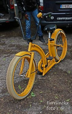 Custom bicycles that should've been done differently. This will bottom-out constantly, and the pedals on the slightest turns. Pity the rider.